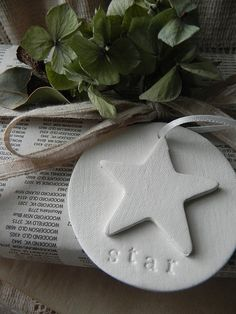 3D Star Clay Tag set of 2 by marleyandlockyer on Etsy