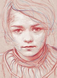 Arya Stark The first portrait of the Game of Thrones series created before the new season premiere. The piece was drawn and coloured with CintiQ in PS.
