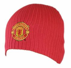 Manchester United FC. Red Knitted Ribbed Hat by Manchester United F.C.. $9.95. Knitted ribbed beanie. Features official Man Utd. crest. Official Manchester United product. From the U.K.. MANCHESTER UNITED F.C. Knit Hat One Size Official Licensed Product