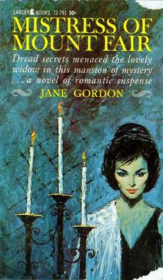 Gothic Novel Cover Gothic Books, Vintage Gothic, Vintage Horror, Horror Books, Horror Art, Vintage Book Covers, Literature Books, Mystery Novels, Book Cover Art