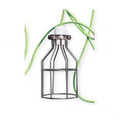 White Milk Bottle Cage Lamp | Cult UK