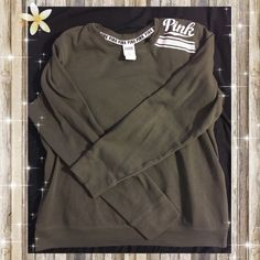VS Pink Olive Green Campus Tee Super comfy and a cute color PINK ...
