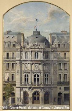 Auguste-Joseph Magne,The Vaudeville Theatre, Elevation of the Rotunda,© RMN (Musée d'Orsay) / Gérard Blot