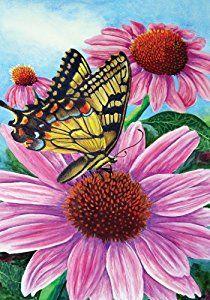 Amazon.com: Swallowtail Coneflower Large Flag: Kitchen & Dining
