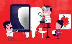 Spencer Wilson - Illustration for Which Magazine Tiphaine-illustration  #dentist #teeth #doctor