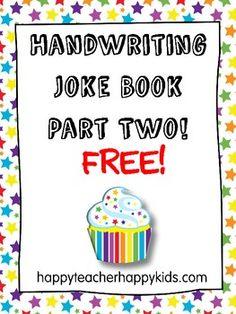 Handwriting Joke Book Part Two FREE!