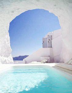 greek islands stucco - Google Search Instagram Worthy, Greek Islands, Santorini, Master Suite, Building, Outdoor Decor, Google Search, Travel, Greek Isles