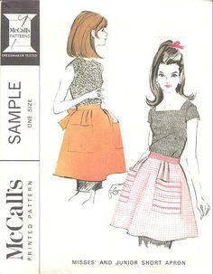 Vintage apron pattern, 1966