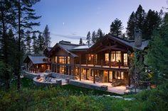 Jackson Hole timber frame home, WY. Teton Heritage Builders.