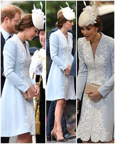 A better look at Kate's new Catherine Walker dress coat. Isn't it exquisite? My new favourite dress coat of hers I think!