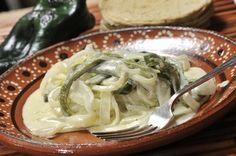Rajas de chile poblano con queso | Cocina y Comparte | Recetas de @cocina al natural