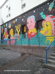 Urban art - Mural urbano en CC Recoleta Ciudad de Buenos Aires