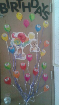 Birthday Board in my Private Kindergarten Classroom... apologize for the picture quality