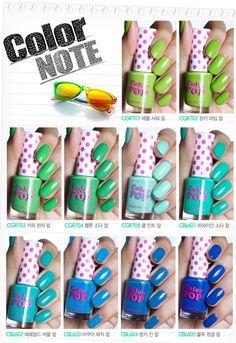 Etude House Color Pop nail polishes