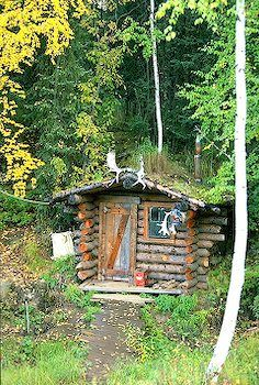 picture of Wilderness Log Cabin Fairbanks Alaska Image Old Cabins, Cabins And Cottages, Tiny Cabins, Cabins In The Woods, Alaska Images, Little Cabin, Little Houses, Cabin Fever, Fairbanks Alaska