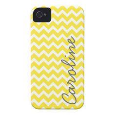 Yellow Chevron iPhone Case iPhone 4 Covers