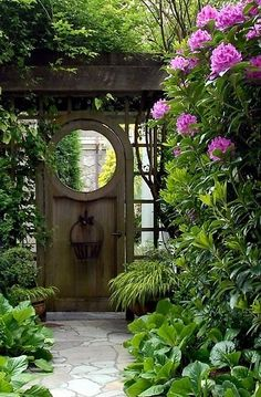 small gates to create a sense of entry