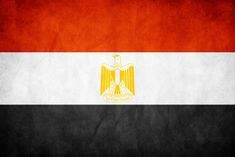 Egypt's flag is a red-white-and-black tricolor with the nation's symbol - the Eagle of Saladin - centered on the white band. The three bands were taken from the Arab Liberation flag and date back to the Egyptian Revolution of 1952.  The red represents the time before the revolution, and the oppression faced under the monarchy and British occupation.  The white symbolizes the bloodless nature of the Revolution, white the black represents the end of the oppression of the Egyptian people.