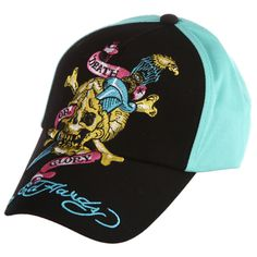 Ed Hardy skull and sword embroidered hat