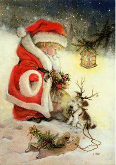 Новогодние сказочные рисунки Лизи Мартин - Ярмарка Мастеров - ручная работа, handmade