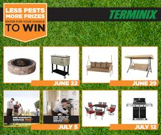 Enter the Terminix Less Pests, More Prizes sweepstakes www.Terminix.com/sweeps