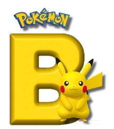 Abecedario de Pikachu de Pokémon. Pikachu Alphabet. Festa Pokemon Go, 150 Pokemon, Pokemon Party, Pokemon Birthday, Brother Birthday, Boy Birthday, Birthday Ideas, Pokemon Letters, Alphabet Letters