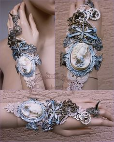 Art nouveau fantasy cuff by Pinkabsinthe.deviantart.com on @deviantART