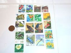 Items similar to Japanes Postage Stamps philately - Set of Nature C on Etsy Japanese Stamp, Collector Cards, Card Maker, Postage Stamps, Kawaii, Scrapbook, Creative, Nature, Handmade