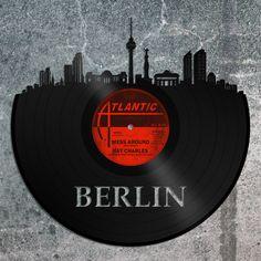 Berlin Skyline, Germany Cityscape, Berlin Wall Art, German Gift Idea, European Travel Wall Art, History gift, Europe Trip Skyline Art by VinylShopUS on Etsy