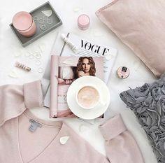 Pink flatlay