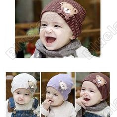 39197aec729 Discount China china wholesale Korea Lovely Bear  Dog Baby Cap Baby Boy Girl  Colorful Hat Warm Autumn Winter Hat  6195  - US 18.11   DealsChic