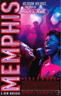Memphis: love, love, LOVE this show! Just saw the tour at Starlight Theatre & it's now tied with Jersey Boys as my favorite Broadway show! Do yourself a favor: Go see it sometime! Memphis Musical, Musical London, Theatre Geek, Musical Theatre, Shubert Theater, Broadway Posters, Movie Posters, Tony Award Winners, On The Road Again