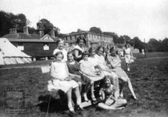 1930's Girl Guides camping in front of Kippax Park, West Yorkshire