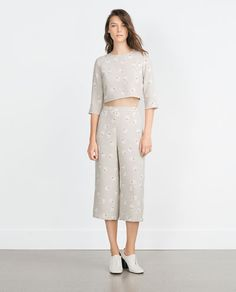 3eb4ced2 Image 1 of CULOTTES from Zara Co Ord Sets, Zara Women, Zara United States