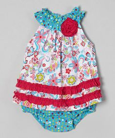 Loving this Pink Field of Flowers Aubrey Sunsuit - Infant on #zulily! #zulilyfinds