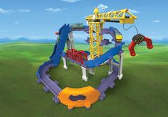 Chuggington StackTrack Brewster's Big Build Adventure Play Set: Brewster's Big Build Adventure Set is packed with big action and tons of play! This set includes an elevator, escalator, working mega crane, trick bridge, tunnel, and two Die-Cast engines. The set features 4 levels of elevation and multiple layouts for extended play. #Chuggington #TOMYToys #HolidayGiftGuide