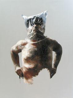 "Xavier Jallais - ""Automorphie au sac RMN"" - Wood coal, ash, sand, acrylic & oil on canvas, 97 x 130 (cm) Artist Names, Photo Manipulation, Female Art, Dinosaur Stuffed Animal, Lion Sculpture, Sketches, Concept, Statue, Drawings"