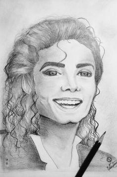 Desenho feito com lápis 6B- Michael Jackson