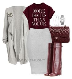 A fashion look from December 2015 featuring Topshop skirts, Givenchy boots and Chanel shoulder bags. Browse and shop related looks. Plus Size Fashion For Women, Black Women Fashion, Look Fashion, Fashion Outfits, Womens Fashion, Stylish Outfits, Fall Outfits, Look 2017, Swagg
