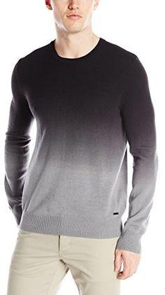 Calvin Klein Jeans Men's 12 GG Ombre Dip Dye Sweater