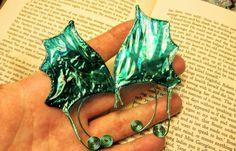 Child Sized Mermaid Elf Ears  Cellophane  by TheGreenSorceress
