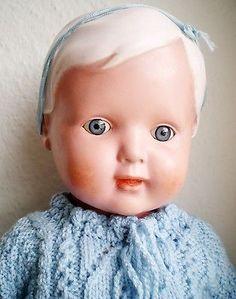 3 of 12: Zweite wunderschöne alte Schildkröt Christel Puppe, old german doll