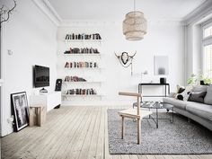 my scandinavian home: A calm swedish home in grey and white