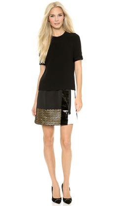 Victoria Victoria Beckham Patch Skirt Combo Dress