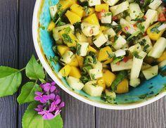 Tropische mangosalsa voor bij de BBQ