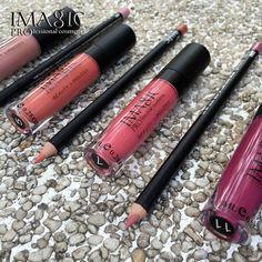 IMAGIC New Lip Gloss + Lipliner Matita Idratante Duraturo Impermeabile Rossetto Opaco Lip Stick Lipgloss Trucco di Marca Lip