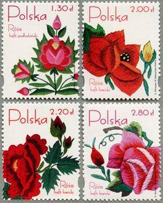 2005年バラの刺繍4種