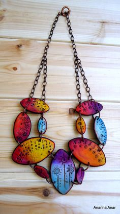 Polymer clay necklace by AnarinaAnar on Etsy, €73.00