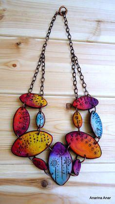 Anarina Anar - Polymer clay necklace