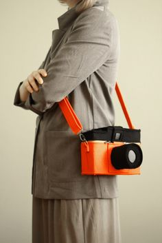 How cute is this shop on Etsy?! Love eet! LOMO Diana Camera bag. $125.00, via Etsy.